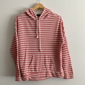 Forever 21 | Pink & White Striped Hoodie